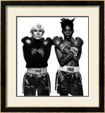 Andy Warhol and Jean-Michel Basquiat Art by Michael Halsband