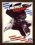 America Calling Framed Giclee Print by Herbert Matter