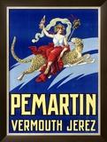 Pemartin Aperitif Vermouth Framed Giclee Print