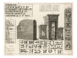 Cuneiform Writing from the Ancient City of Persepolis Giclee Print