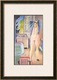 Jeune Fille au Drap Bleu, 1986 Posters by Conte de Balthus