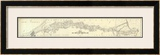 Map Exhibiting The Lines for the New York and New Haven Railroad, c.1845 Framed Giclee Print by P. Anderson