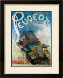 Peugeot Framed Giclee Print by G. De Burggrill
