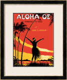 Aloha Oe Music Sheet Framed Giclee Print by  LeMorgan