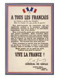 De Gaulle Declaration Giclee Print