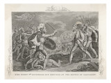 English Victory at Agincourt King Henry V Defends His Brother Giclee Print