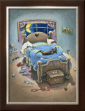 Bed Hog Framed Giclee Print by Gary Patterson