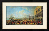 In Front of the Doge Palace in Venice Posters by Luca Carlevaris