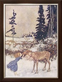 Christmas Reindeer Framed Giclee Print