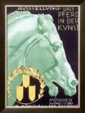 Art Exhibit, Munich Framed Giclee Print by Ludwig Hohlwein