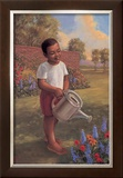 Child with Watering Can Posters by Tim Ashkar