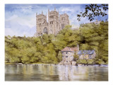 Durham Cathedral from the River Wear Giclee Print by Malcolm Greensmith