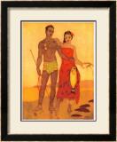 Fisherman of Hawaii Framed Giclee Print by John Kelly