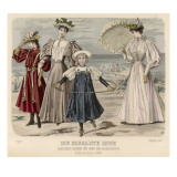 Fashion on Beach, 1895 Giclee Print by Philip Talmage