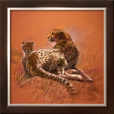 Cheetah Mother Print by Renato Casaro