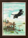 Day at the Lake Framed Giclee Print by Gary Patterson