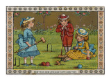Children Playing Croquet Giclee Print