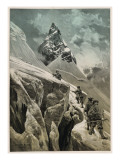 Climbing in the Swiss Alps Giclee Print