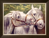Livestock Horse Fair Framed Giclee Print