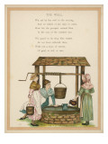 England : Country Girls Gossiping at the Village Well Giclee Print