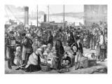 Irish Emigrants Leaving Queenstown Harbour Giclee Print