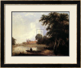 Fishing on the River Thames Near Eton Prints by Thomas Creswick