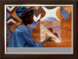 Woman in West Africa Print by Margaret Courtney-Clarke