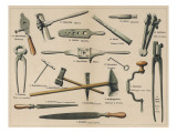 Blacksmith's Tools 1875 Giclee Print
