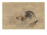 Cockerel and Hen - Japanese Print Giclee Print by Robert Gillmor