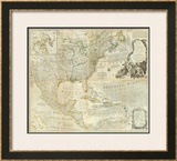 Composite: North America, c.1776 Framed Giclee Print by Thomas Jefferys
