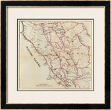 California: Sonoma, Marin, Lake, and Napa Counties, c.1896 Framed Giclee Print by George W. Blum