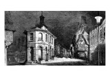 Engraving from 1881 Showing the Town of Godalming in Surrey Illuminated by Electric Light Giclee Print