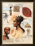 African Profiles Prints by Marc Lacaze