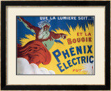 Phenix Electric Framed Giclee Print by E. Gallice