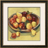 Apple Bowl I Poster by Dawna Barton