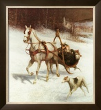 Bridal Sleigh Print by Jan Van Chelminski