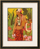 Lei Vendor Print by J. Maybra