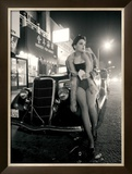 Pin-Up Girl: Chinatown Framed Giclee Print by David Perry