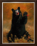 Black Bear with Berries Prints by H. Kendrick