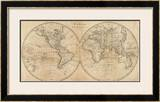 The World, c.1825 Framed Giclee Print by Mathew Carey