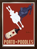 Porto Poodles Limited Edition Framed Print by Ken Bailey