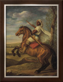 Moorish Chieftain on Horseback Poster by Tim Ashkar