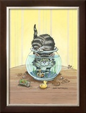 Got Fish Framed Giclee Print by Gary Patterson