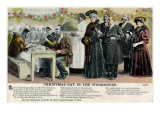 Christmas Day in the Workhouse Giclee Print by Peter Higginbotham