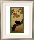 Black Cat Posters by Shunso Hishida