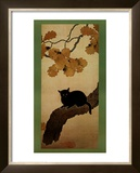 Black Cat Print by Shunso Hishida