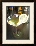 Lemon Drop Cocktail Framed Giclee Print by Steve Ash