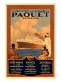 Compagnie De Navigation Paquet Giclee Print