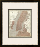 New York and Vicinity, c.1845 Framed Giclee Print by Sidney E. Morse