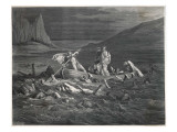 Charon, the Ferryman of the Styx, Carries Dante and Virgil to the Underworld Giclee Print